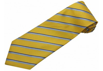 STRIPES TIE YELLOW & LT. BLUE NOVELTY NECKTIE #61