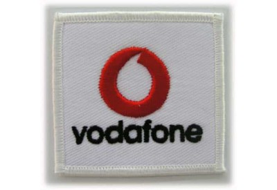 VODAFONE LOGO IRON ON EMBROIDERED PATCH